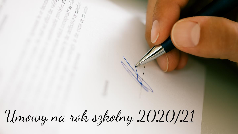 Umowy na rok szkolny 2020-21