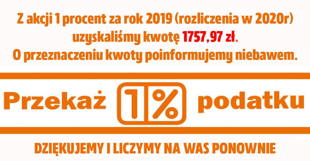 1 procent za 2019 rok