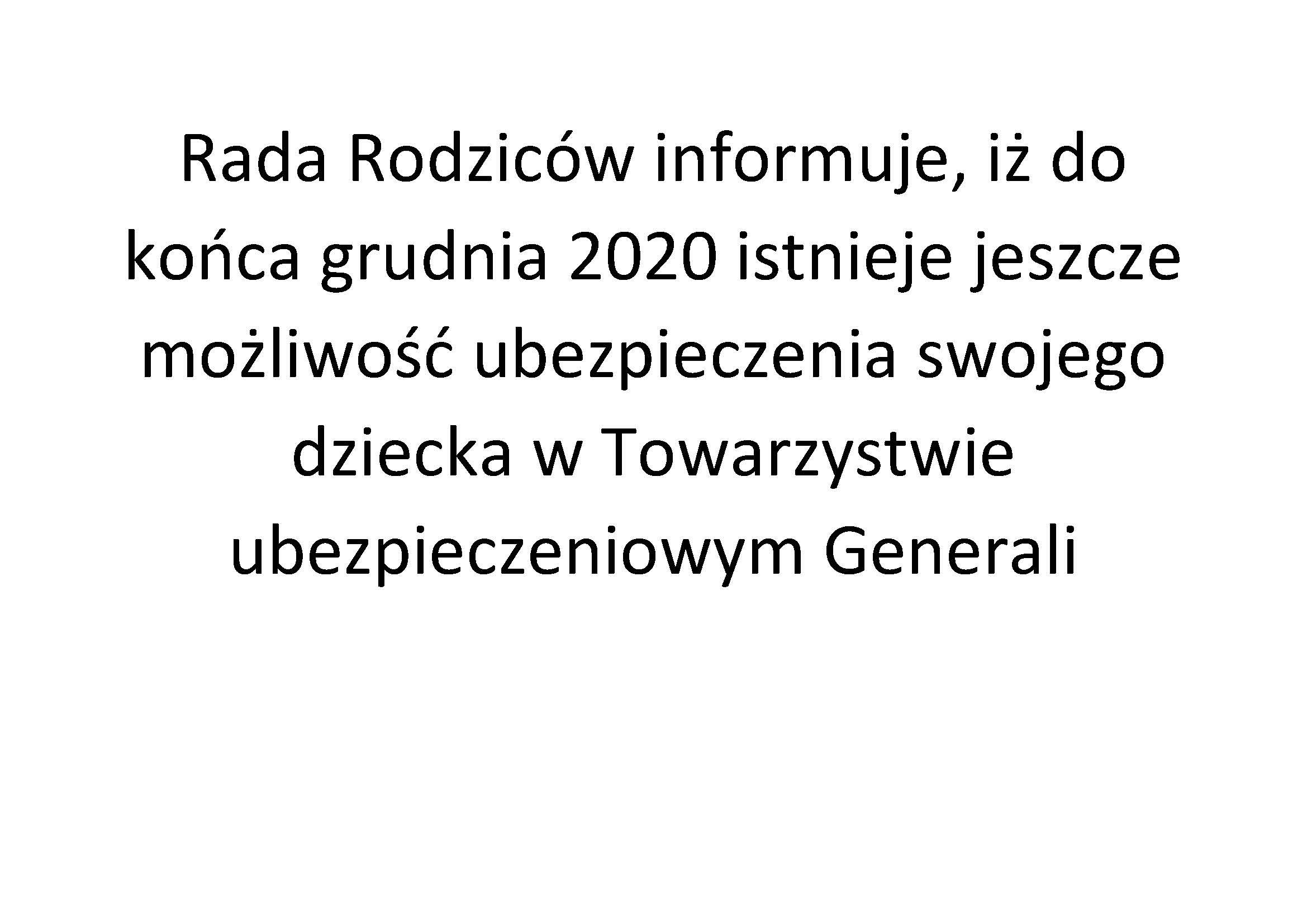 Informacja Generali